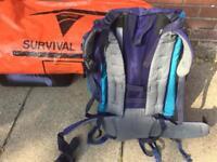 Karrimor Panther 65 Rucksack and Vango Survival Bag