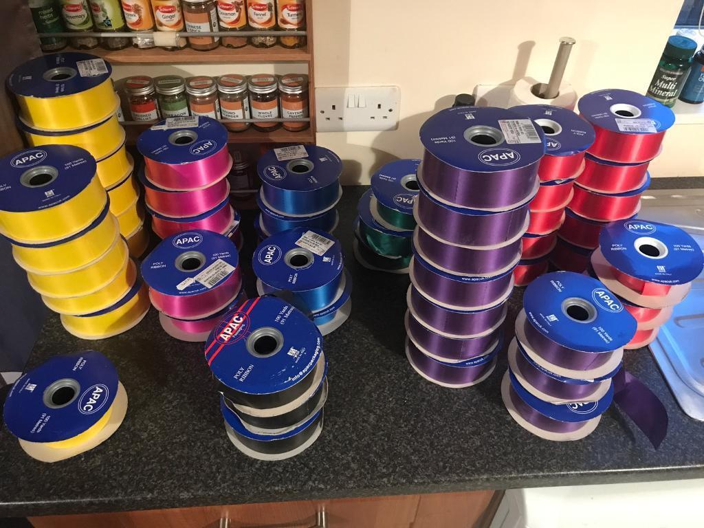 Poly ribbon multiple colours available (see list)