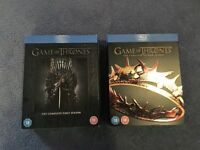 Game of Thrones Seasons 1 and 2 on Blu Ray