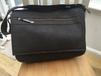 NEW Brown leather effect messenger bag