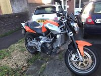 Aprilia Shiver 750 V-twin Streetfighter not Triumph, or Ducati. Can be made A2 compliant