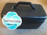 Vintage Samsonite Silhoutte 1000 Silver Slate Hardcase Make Up/Cosmetic Vanity Travel Train Case £25
