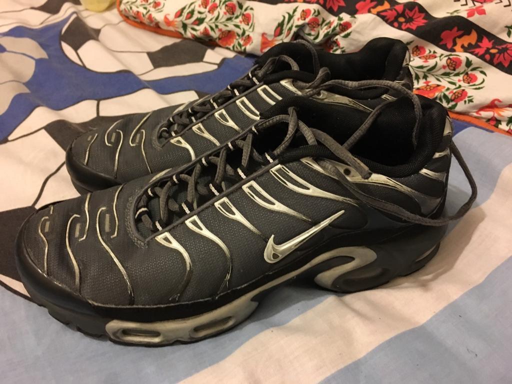 d89c5a835c62 Nike Air Max Tns Size 8 Silver  Grey  Black