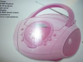 NEW PINK CD/RADIO