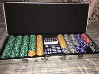 Fosters Poker Set With Table