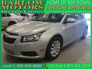 2011 Chevrolet Cruze LT Turbo | $99 DOWN EVERYONE APPROVED!!!
