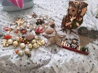 Christmas decorations bundle Brown/gold