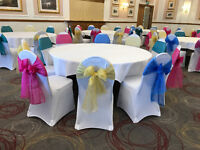 White Lycra Chair Cover Hire from 75p each