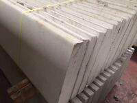 Concrete garden fence post, base panels, gravel boards