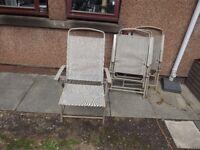 4 Garden Folding Chairs