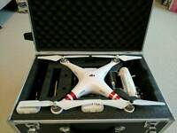 Dji phantom 3 drone also 3 batteries and flight case ( new )