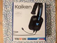 Triton Kaiken mono chat headset for PS4/Vita/Wii U/mobile - Practically brand new