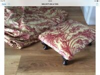 Beautiful Fabric Gothic burgandy wild flower print 10 metres available