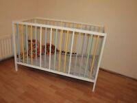 Hand painted 100% wooden Baby bed