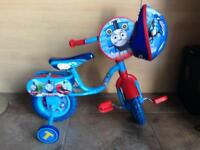 Thomas the tank child's bike and safety helmet