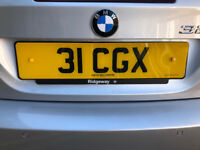 Private number plate 31 CGX