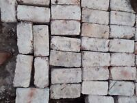 Bricks, clay firebricks ideal for building a barbecue or chimney.
