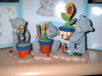 ** Me To You/ Tatty Teddy figurines - First, In & Full Bloom ** Retired & Rare! New!