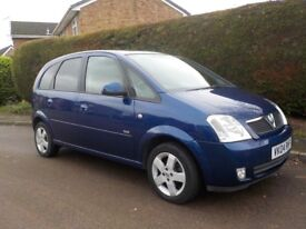 2004 Vauxhall Meriva Design 8V 1.6 with only 60,000 Miles and Long MOT