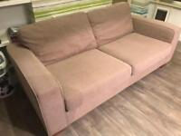 M&S fabric sofa couch