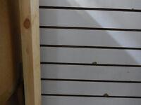 White slatboard 2 sided gondola ( used0