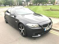 2011 BMW 520D AUTO M SPORT F10 GREY TOP SPEC SUNROOF SAT NAV LEATHER NOT 525D 530D 535D E220 E250 X5
