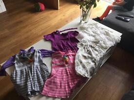 Girls bundle of clothes 5 dresses