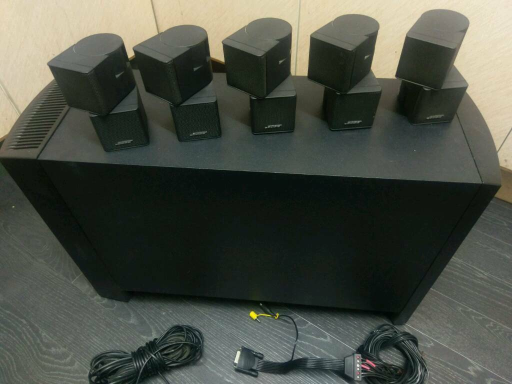 bose jewel cube speakers for sale. bose acoustimass 10 lv 5.1 jewel cubes home cinema powered subwoofer with cables cube speakers for sale