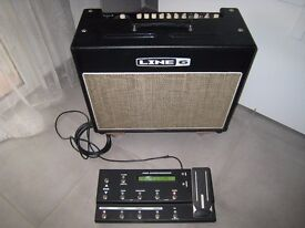 Line 6 Flextone 3 150watt twin with foot controller, mint studio use only. Swap for small tube amp
