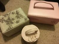 Set of three jewellery boxes good condition job lot