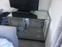Lovely mirrored chest of draws