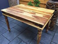 Sheesham Hardwood Dining Table - Brand New