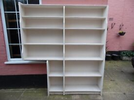 Large White 12 Compartment Custom Built Bookcase VGC