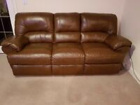 Hardly used 3 seater leather sofa