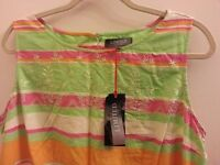 LADIES WOMENS MARKS SPENCER M&S LIMITED EDITION PASTEL SUMMER DRESS SKATER 18 GIFT BEACH NEW CLOTHES
