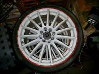 """Sold sold sold Set of Wolfrace multistud 17"""" alloys"""