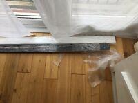 BN Strasse Noir black sparkle kitchen UPSTAND worktop splash back from WICKES