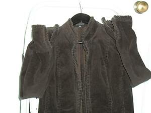 Women's French Cuff dark brown corduroy jacket sz S Kingston Kingston Area image 1