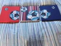 Football Canvas pictures x3