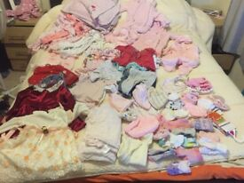 big bundle of baby girl clothes 0-3