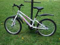 """Girls/Kids Apollo Envy bike bicycle from Halfords. 20"""" inch wheels. Steel Frame, White."""