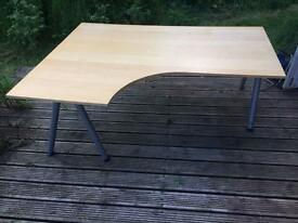 Ikea Galant curved office table