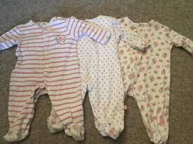Girls babygrow set