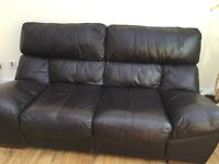 REDUCED - Leather sofa, Table and chair AND MORE