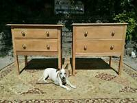 Two solid oak chest of drawers
