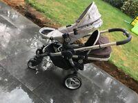 icandy peach 2 double pram push chair