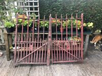 Cast Iron Gates and Post