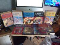 Harry potter books x 10