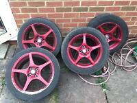 Mr2 alloy wheels 4x100