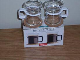 8 Bodum bistro-Espresso glass demitasses.